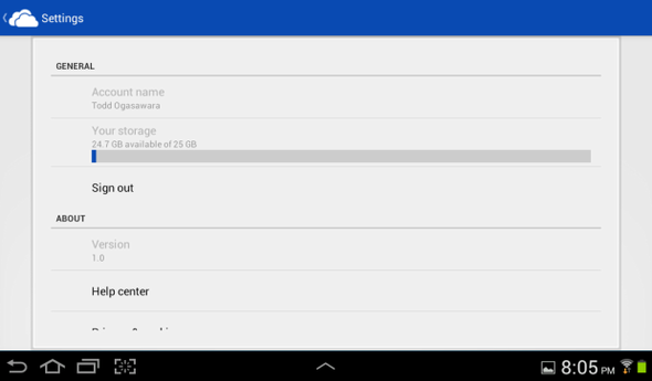 Visual Tour: Microsoft SkyDrive For Android