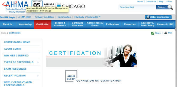 Commission on Certification for Health Informatics and Information Management