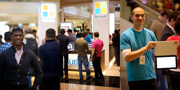 Enthusiastic Windows Fans Line Up