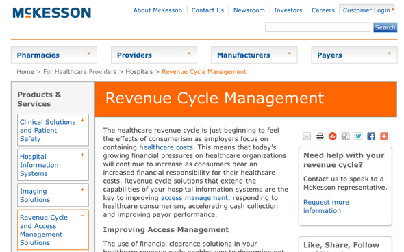 McKesson Revenue Cycle Management Solutions