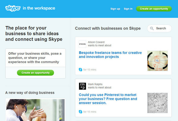 Skype in the Workspace: Opportunities for SMBs