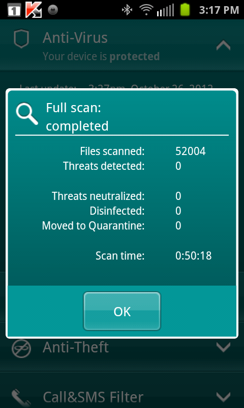 Visual Tour: Kaspersky Mobile Security For Android Phones