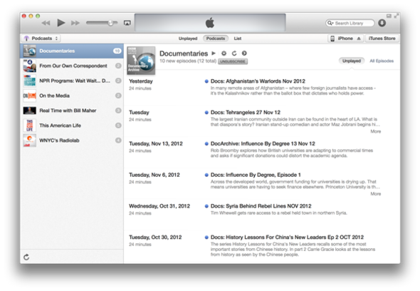 Apple iTunes 11: Visual Tour