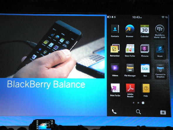 BlackBerry Balance Separates Work, Personal Use