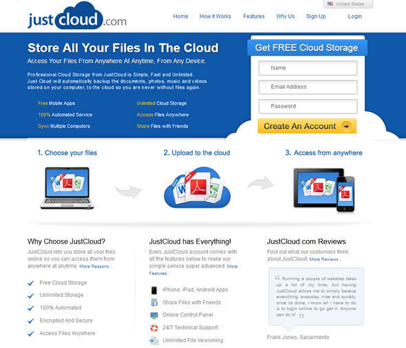 JustCloud: A Lot Of Bang For Your Bucks