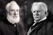 Alexander Graham Bell and Theodore Vail