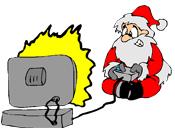Santa game console