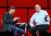 Paging Paula? Idol's Ryan Seacrest with Ballmer at CES