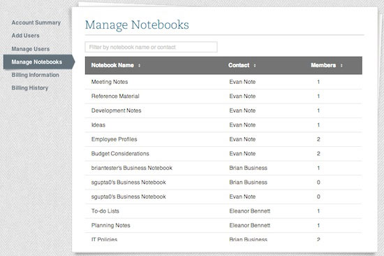 Manage Notebooks