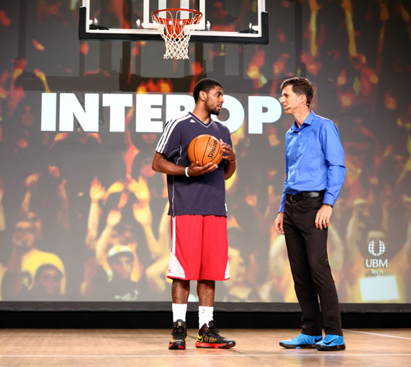 NBA All-Star Kyrie Irving and Cisco VP Robert Soderbery