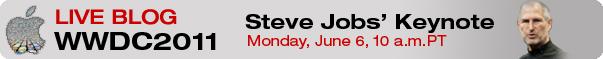 InformationWeek @ WWDC 2011: Live Blog Coverage of Steve Jobs' Keynote, Monday June 6