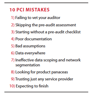 10 PCI Mistakes