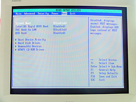 Entering the BOOT submenu offers a number of choices relating to how your system boots, what boot devices it recognizes (including USB), and in what order the boot devices will be accessed.