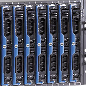 Dell's PowerEdge 1855 chassis can hold as many as 10 blade servers.