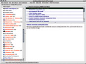 A view of the NetNewsWire Lite RSS client interface from Ranchero Software.