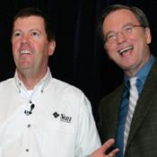 Scott McNealy, Sun's CEO, and Eric Schmidt, Google's CEO
