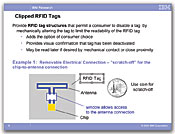 Clipped RFID Tags