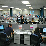 Members of TechTeam's Ford support group at the automaker's Allen Park, Mich., call center.