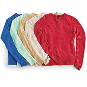 A rainbow of sweater from The Gap