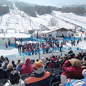 Parallel Giant Slalom And Snowboard Cross Run