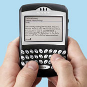 Research In Motion's BlackBerry service -- the big day approaches.