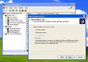 An extended partition lets you get around Windows' built-in limit of four primary partitions.