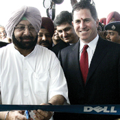 Expanding in India makes Michael Dell happy. -- Photo by Prakash Singh/AFP