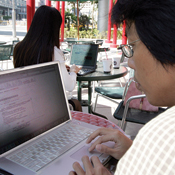 If it's Taipei, it must be Wi-Fi -- Photo by Richard Chung/Reuters