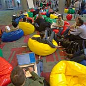 Beanbag chairs -- check. Now wheres the foosball?