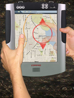 LucidTouch as a GPS-based navigational device.