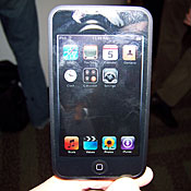 Apple puts the new iPod Touch on display after announcing an upgrade of the product line.