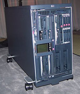 Hewlett-Packard shows tower version of new BladeSystem c3000.