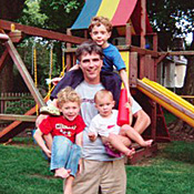 CMU professor Pausch, with his kids
