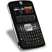 Motorola Q, a Windows Mobile phone, running the eSpeed financial trading app