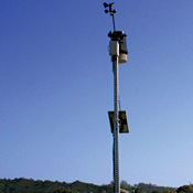 Solar-powered, wireless links