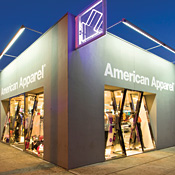American Apparel storefront