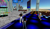 On popular Anarchia Island, avatars fly and teleport in to boogie on the virtual dance floor.
