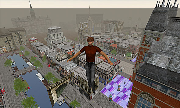 Amsterdam is unusually cohesive for a such a large ''sim,'' or area in Second Life. Often, sims that large are created by many people in a patchwork of conflicting styles.
