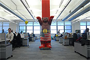 Work spaces in the New York offices of Google.