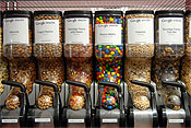 Snac-tion: The New York offices of Google have micro kitchens and snack stations throughout.