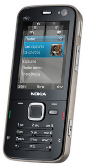  Nokia's N78 offers 3G capabilities, integrated Wi-Fi, assisted GPS, an FM transmitter, and a 3.2-megapixel camera.
