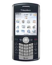 AT&T's newest handset, the BlackBerry Pearl 8120, combines business-grade and multimedia functions with built-in WI-Fi access.