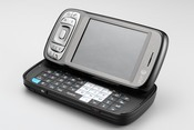 The ATT Tilt smartphone runs Microsoft's latest Windows Mobile 6 operating system, has a slide-out QWERTY keypad, and 3G high-speed data connectivity.