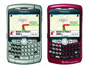 AT&T's BlackBerry Curve 8310 has built-in GPS intended for use with location-based applications and services.