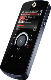ModeShift is the most notable feature in Motorola's new Rokr E8 music-centric phone; the technology transforms the phone into a music player, a camera, or a basic phone (dial keypad) with the press of a button.