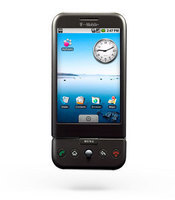 The G1 is the first Android-powered handset and it features a touch screen, full QWERTY keyboard, 3G connectivity, GPS, Wi-Fi, and it's preloaded with an Amazon app for downloading music.