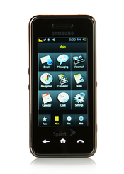The Instinct touch-screen phone includes a three-inch display and multimedia capabilities to compete with the Apple iPhone.