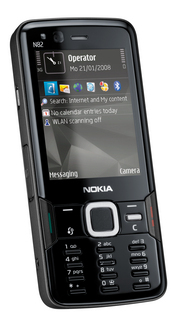 Nokia's N82 has a 5-megapixel camera, GPS capability, plus Wi-Fi and HSDPA connectivity.