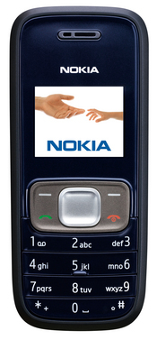 The Nokia 1209 is designed for emerging markets and supports up to 80 languages.