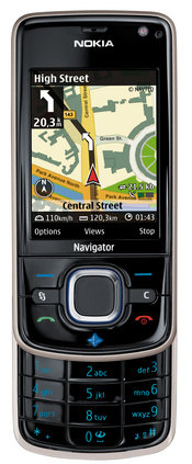 The 6210 Navigator is Nokia's first GPS-enabled mobile device with an integrated compass for pedestrian guidance.